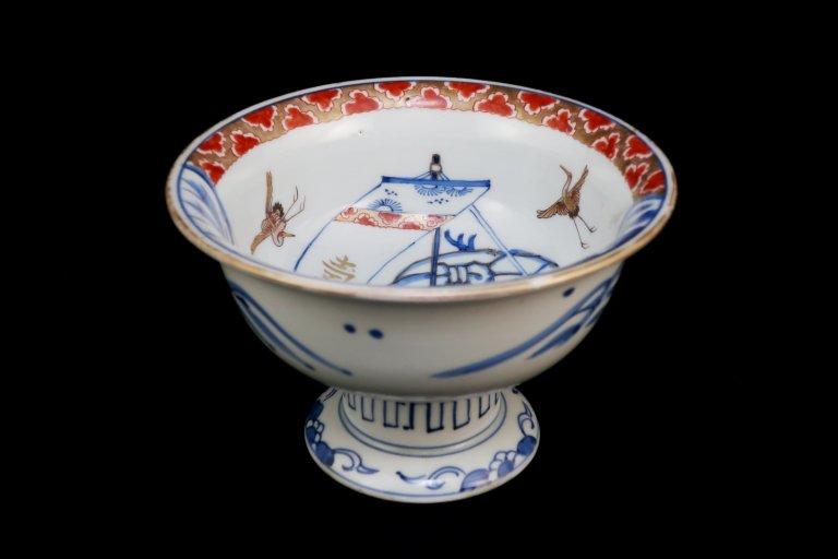 伊万里色絵宝船の図盃洗 / Imari Plychrome 'Haisen' Sake cup Washing Bowl with the picture of Treasure Boat