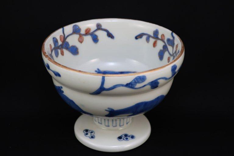 伊万里色絵馬文盃洗 / Imari Polychrome 'Haisen' Sake cup Washing Bowl with the picture of Horses