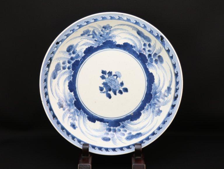 伊万里染付草花文大皿 / Imari Large Blue & White Plate