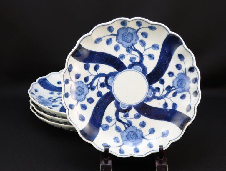 伊万里染付七寸皿 四枚組 / Imari Blue & White Plate  set of 4