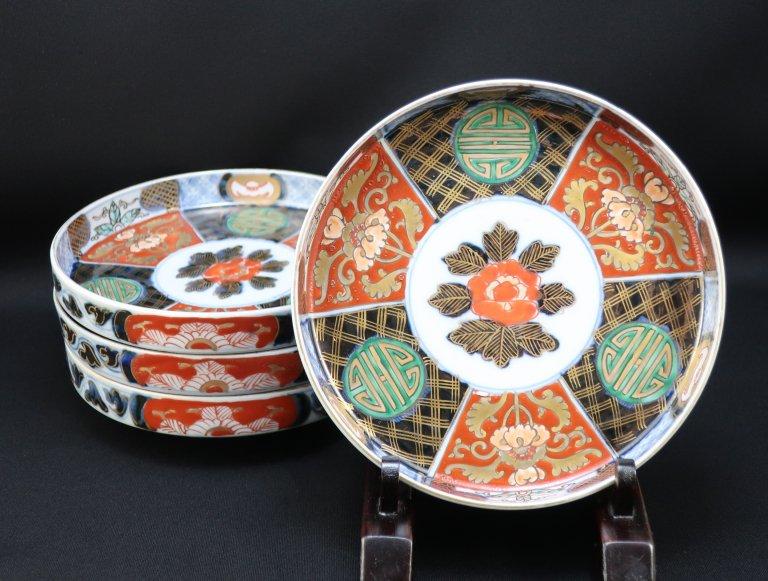 伊万里色絵五寸皿 四枚組 / Imari Polychrome Plates  set of 4