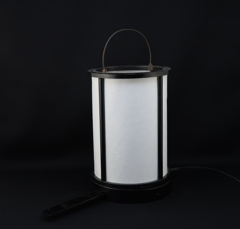 黒塗手燭(行灯)/ Black-lacuered Portable 'Andon' Paper Lamp