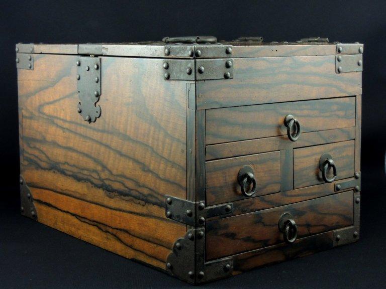 黒柿硯箱 / Black-persimmon Ink Stone Box