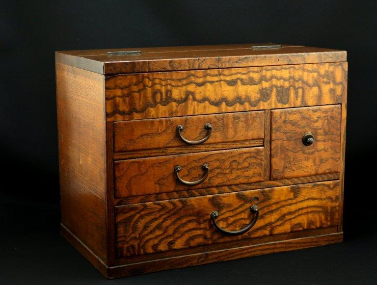 たも針箱 / Grained Wood(Tamo) Sewing Box