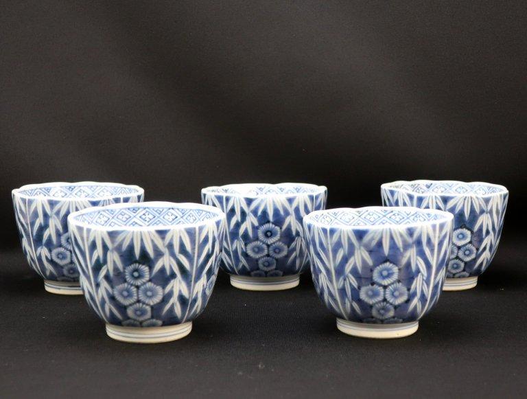 伊万里染付向付 五客組 / Imari Blue & White 'Mukoduke' Cups  set of 5
