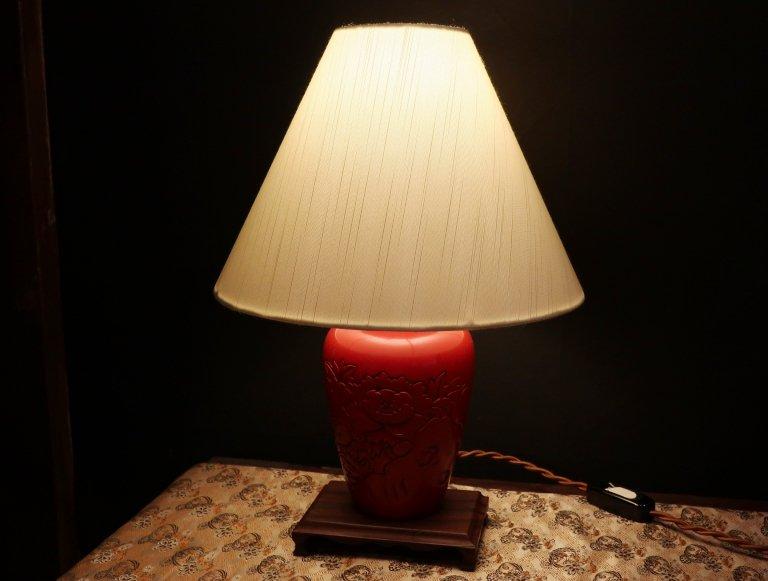村上堆朱花瓶ランプ