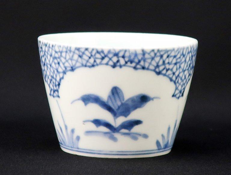 伊万里染付薊氷裂文蕎麦猪口 / Imari Blue & White 'Soba' Cup