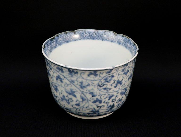 伊万里萩唐草文向付 / Imari Blue & White 'Mukoduke' Cup