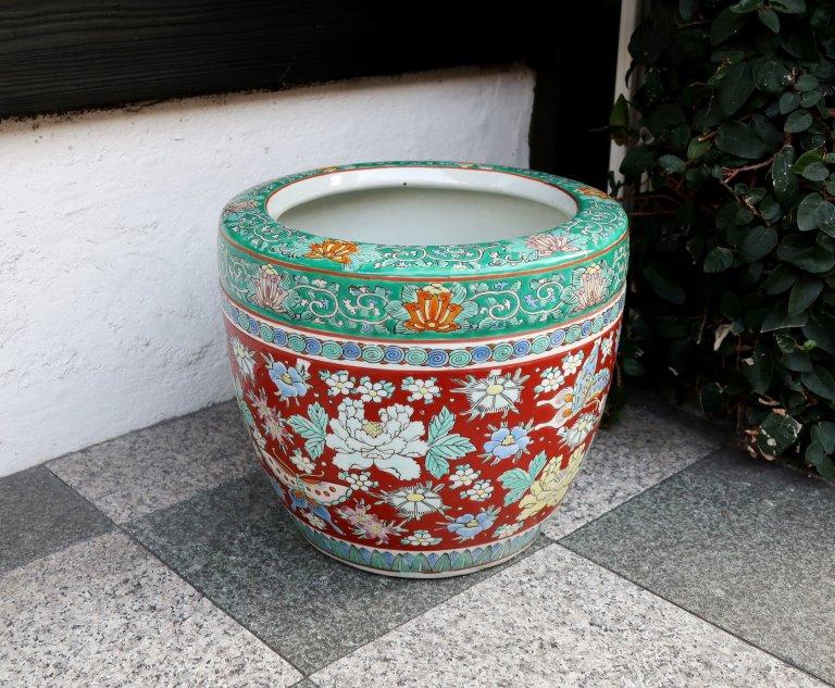伊万里色絵手あぶり / Imari Small Polychrome Hibachi Pot