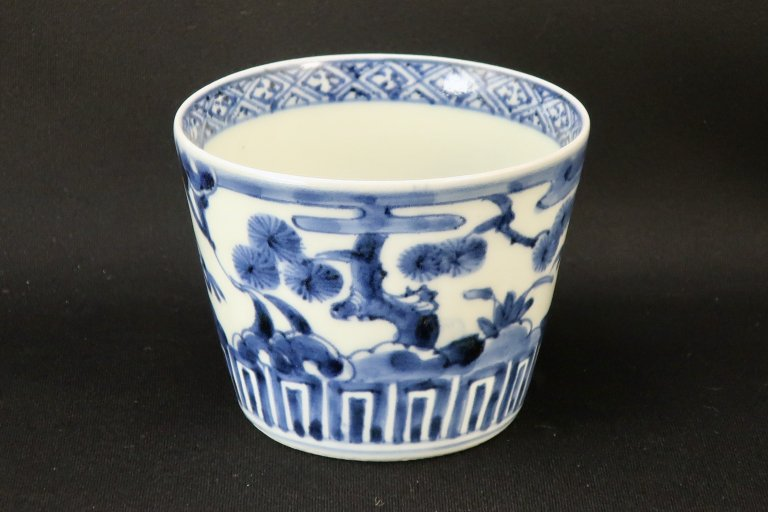 伊万里染付松竹梅文大蕎麦猪口 / Imari Large Blue & White soba Cup with the picture of Pine, Bamboo, Plum flowers