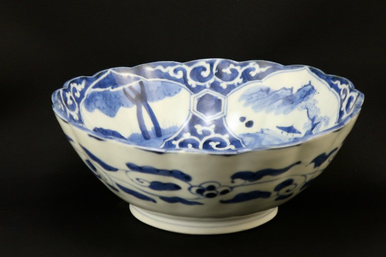 伊万里染付麒麟文大鉢 / Imari Large Blue & White Bowl with the picture of 'Kirin'