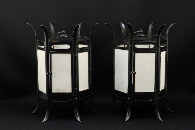 小さな釣灯篭 一対 / Small Hanging 'Toro' Paper Lantern  1 Pair