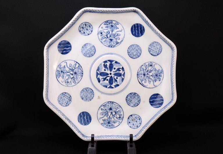 伊万里染付丸文八角大皿 / Imari Large Octagonal Blue & White Plate