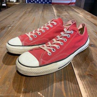 オリジナル 80's Converse コンバース ALL STAR オールスター レッドLOW US12