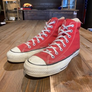 オリジナル 80's Converse コンバース ALL STAR オールスター  レッドHI US9.5