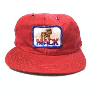 NOS 80's Mack Truck マックトラック トラッカーキャップ アメリカ製 レッド�