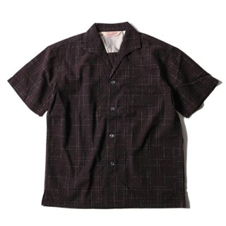 TROPHY CLOTHING SUNRISE SHIRT オープンカラーシャツ BROWN