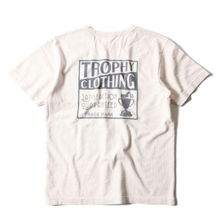 TROPHY CLOYHING トロフィークロージング BOX LOGO OD Volume Cotton Pocket Tee  NATULAL