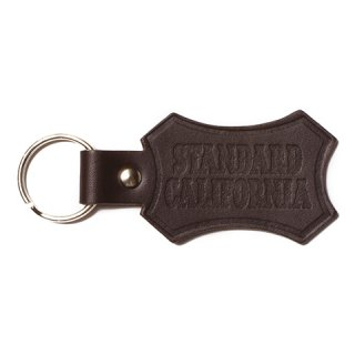 STANDARD CALIFORNIA スタンダードカリフォルニア Button Works × SD Shield Logo Leather Key Holder BROWN