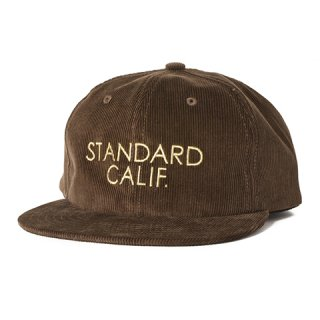 STANDARD CALIFORNIA スタンダードカリフォルニア キャップ SD Corduroy Logo Cap BROWN