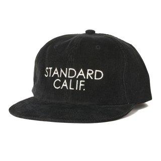 STANDARD CALIFORNIA スタンダードカリフォルニア キャップ SD Corduroy Logo Cap BLACK