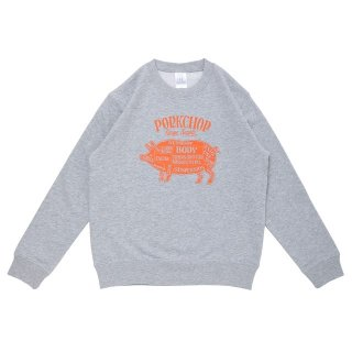 PORKCHOP GARAGE SUPPLY  PORK FRONT SWEAT for Kids P-20 GRAY