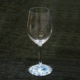 有田焼ミュゼグラス 菊唐草(ワイングラス)しん窯