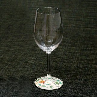 有田焼ミュゼグラス 色絵花唐草(ワイングラス)しん窯