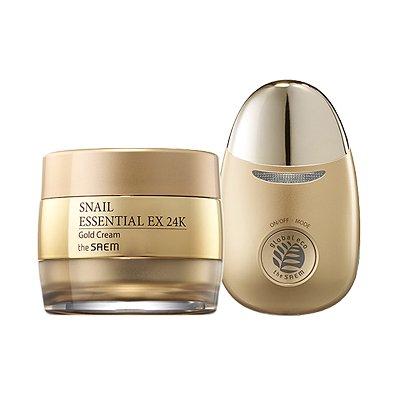 【the SAEM】ザセム スネイル エッセンシャル EX 24K ゴールド クリーム セット Snail Essential EX 24K Gold Cream Set