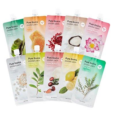 【MISSHA】【1枚】 ミシャ ピュアソース ポケット パック 10種類 Pure Source Pocket Pack 10ml