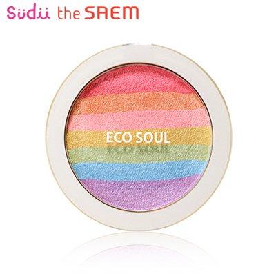 【the SAEM】ザセム エコソウル プリズム ブラッシャー ECO SOUL Prism Blusher 8g レインボー ブラッシャー