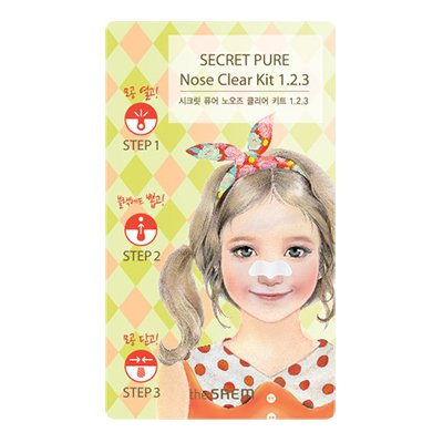 【the SAEM】ザセム シークレット ピュア ノーズ クリアキット 123 Secret Pure Nose Clear Kit 123 6g