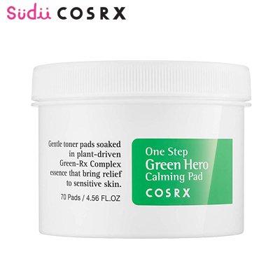 【COSRX】コスアールエックス ワンステップ グリーンヒーロー カーミング パッド COSRX One Step Green Hero Calming Pad 70枚