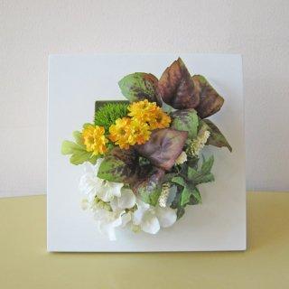 光触媒アートフラワーアレンジメント【アスワド(壁掛け)】フレームアートフラワー造花だから、長く愛せます。