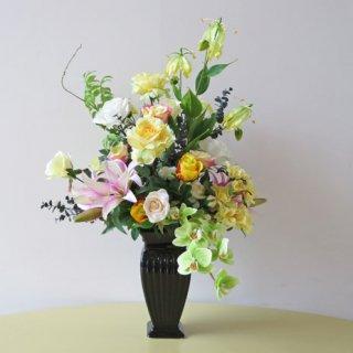 光触媒アートフラワーアレンジメント【ドルーク】優美な高級造花アレンジメントです。開院祝いなどにいかがでしょうか。とびっきりの清潔感を贈りませんか