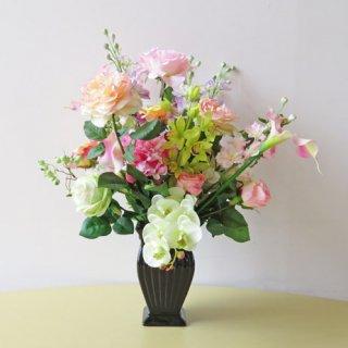 光触媒アートフラワーアレンジメント【イエニ】アートフラワー12種の花々でアレンジしました。