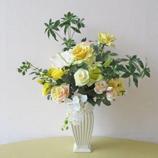 光触媒アートフラワーアレンジメント【オルソ】開店祝い・開院祝いにおすすめです。優美な花々が素敵なアーティフィシャルフラワー(高級造花)アレンジです