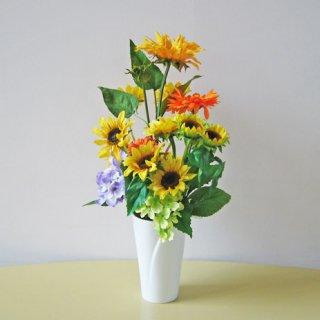 光触媒アートフラワーアレンジメント【ハルディン】元気が出るサンフラワーのアレンジです。