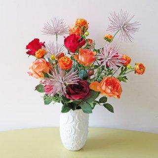 光触媒アートフラワーアレンジメント【トワル】遠目からでも目立つおしゃれな高級造花アレンジです