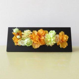 光触媒アートフラワーアレンジメント【フェリス(壁掛け)】珍しい「シャクナゲ」のアーティフィシャルフラワー(高級造花)を使用した、造花フレームです