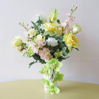 光触媒アートフラワーアレンジメント【ベッラ】優しく、鮮やかな色彩の高級造花アレンジメントです