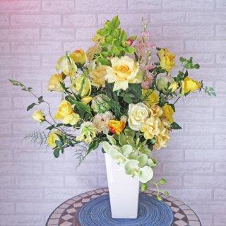 光触媒アートフラワーアレンジメント【カンシオン】開店・開院祝いに大人気の黄色の大型アレンジです