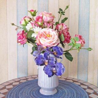 光触媒アートフラワーアレンジメント【パルケ】花器がとてもおしゃれです