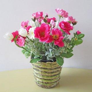 光触媒アートフラワーアレンジメント【トラオム】ピンク色がお好きな方へ