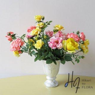 光触媒アートフラワーアレンジメント【フロリーデ】素敵なバラの高級造花アレンジメントです。