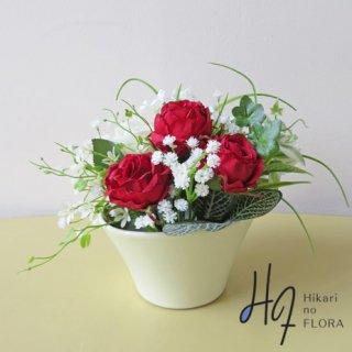 光触媒アートフラワーアレンジメント【シャーロット】薔薇好きな方への、小さな贈り物。