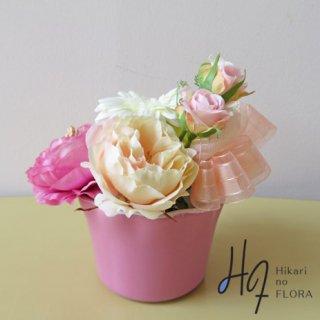 光触媒アートフラワーアレンジメント【オリビア】オシャレ可愛い小さな、造花アレンジメントです。