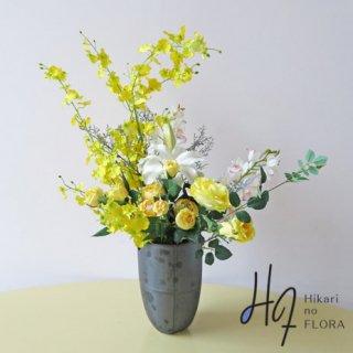 光触媒造花インテリア【オンシジューム&八重咲リリー】ワンランク上の高級インテリア。開院祝や移転祝いにいかがでしょうか。