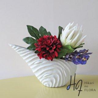 高級造花インテリア【ソフィア】プロテアの花言葉は「華やかな期待、王者の風格、甘い恋、豊かな心、栄光」すごいですね。