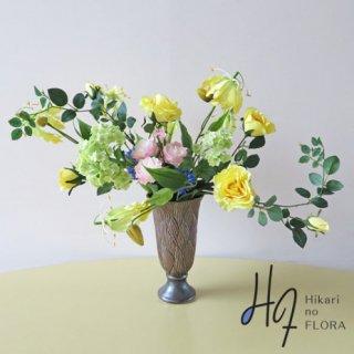 高級造花インテリア【ミア】伸びやかなローズ・アーティフィシャルフラワー(高級造花)アレンジです。